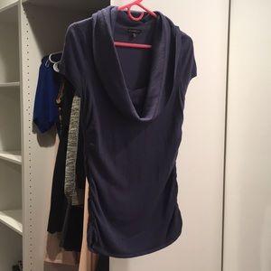 Cap Sleeve Cowl Neck Sweater
